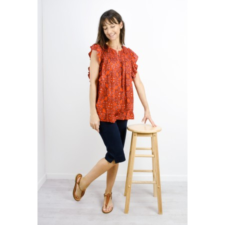 Masai Clothing Ebele Moroccan Top - Orange