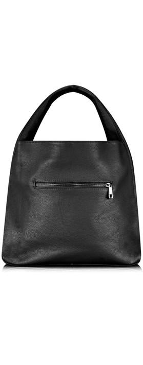 Gemini Label Bags Ravenna Leather Bag Black
