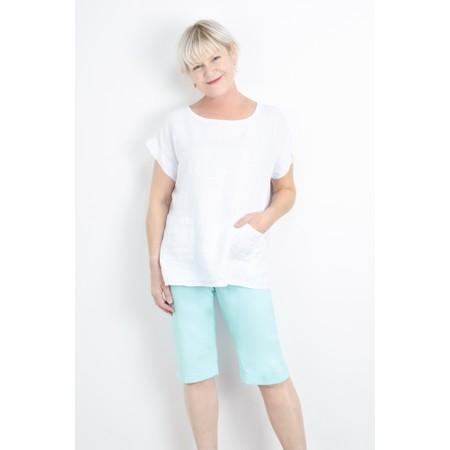Luella Fern Easyfit Linen Top - White