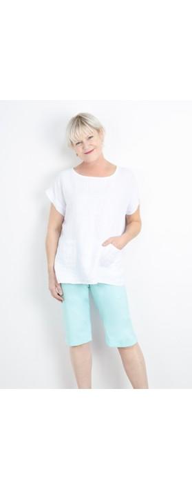 Robell  Bella 05 Slimfit Short Pale Turquoise 710