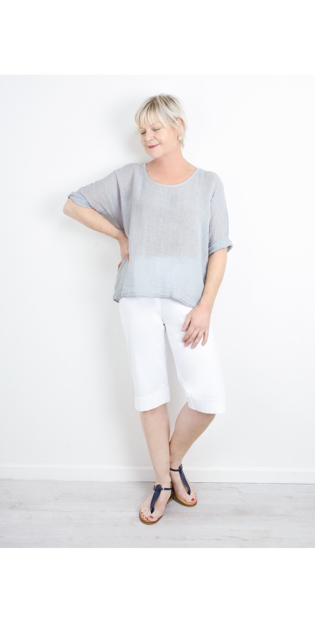 Billie Linen Mix Easy Fit Top main image