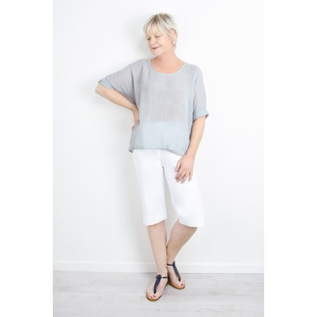 TOC Billie Linen Mix Easy Fit Top - Metallic