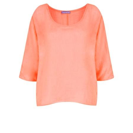 TOC  Billie Linen Easy Fit Top - Orange