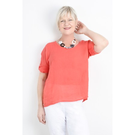 TOC  Billie Linen Easy Fit Top - Orange