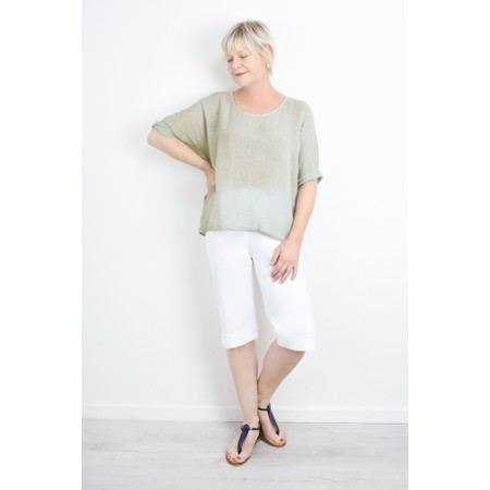 TOC Billie Linen Mix Easy Fit Top - Grey