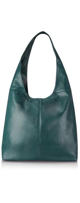 Gemini Label Bags Sophy Slouchy Leather Bag Dark Teal