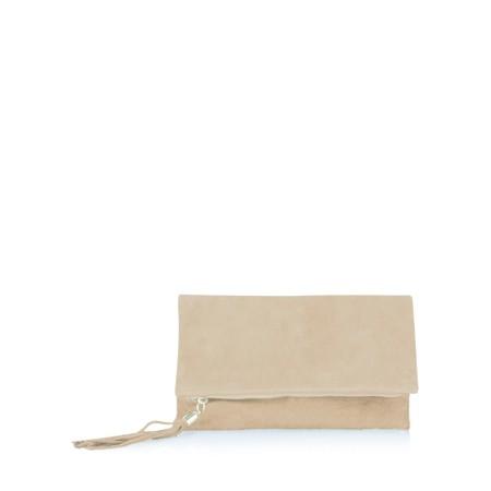 Gemini Label  Silvi Clutch Bag - Beige