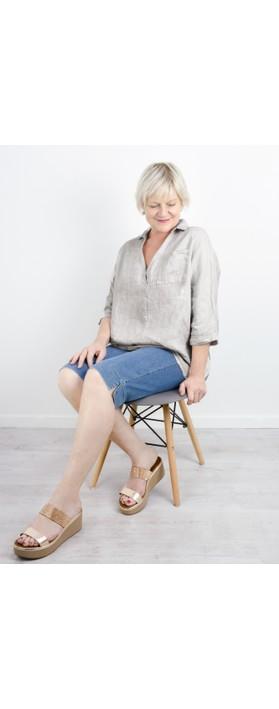 INUOVO Emma Wedge Sandal Visone