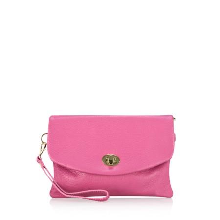 Gemini Label Bags Rieti Leather Clutch - Pink