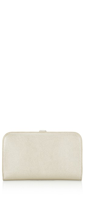 Gemini Label Bags Meli Pleather Matinee Purse Platine Metallic