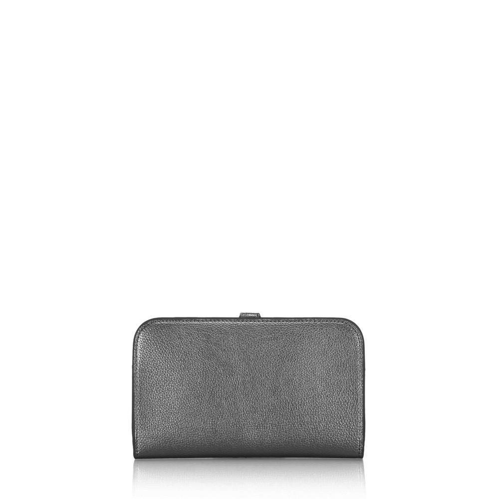 Gemini Label Bags Meli Pleather Matinee Purse Pewter