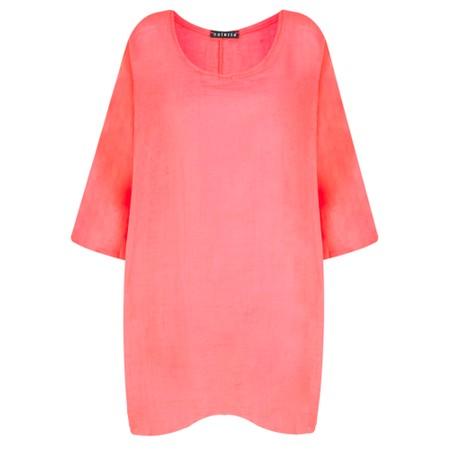 TOC  Bellaby Fine Linen longline T- top - Orange