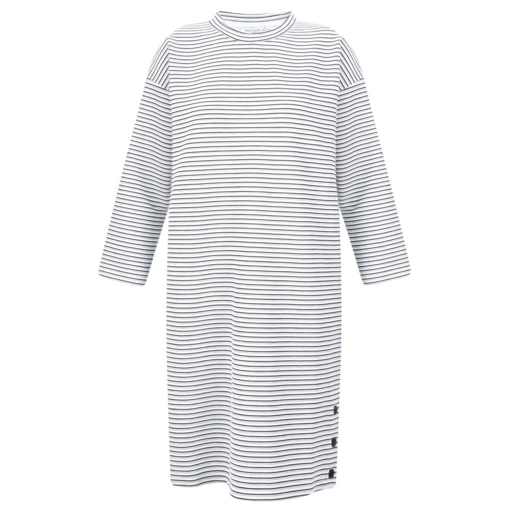 Great Plains Orla Ottoman Long Sleeve Dress black/grey mel/ milk