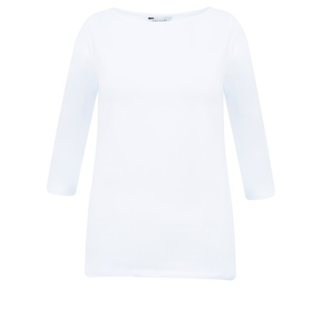 Great Plains Essential Jersey 3/4 Length Tee - White