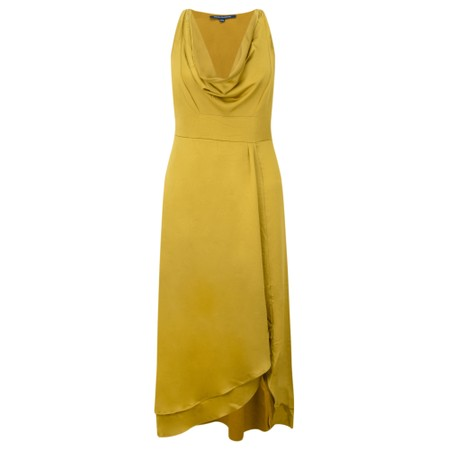 French Connection Alessia Satin Dress - Yellow