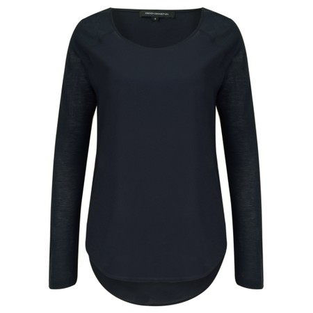 French Connection Classic Polly Plains Top  - Blue