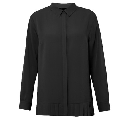 French Connection Crepe Light Pleat Shirt - Black