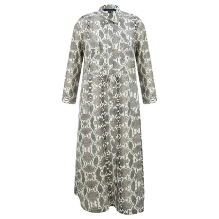 French Connection Snake Shirt Dress - Off-White