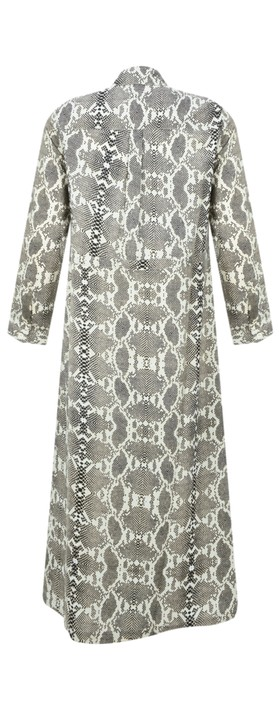 French Connection Snake Shirt Dress Cream Snake