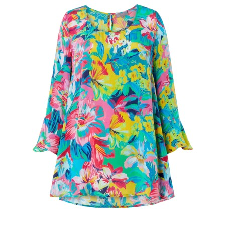 Sahara Summer Floral Print Top - Multicoloured