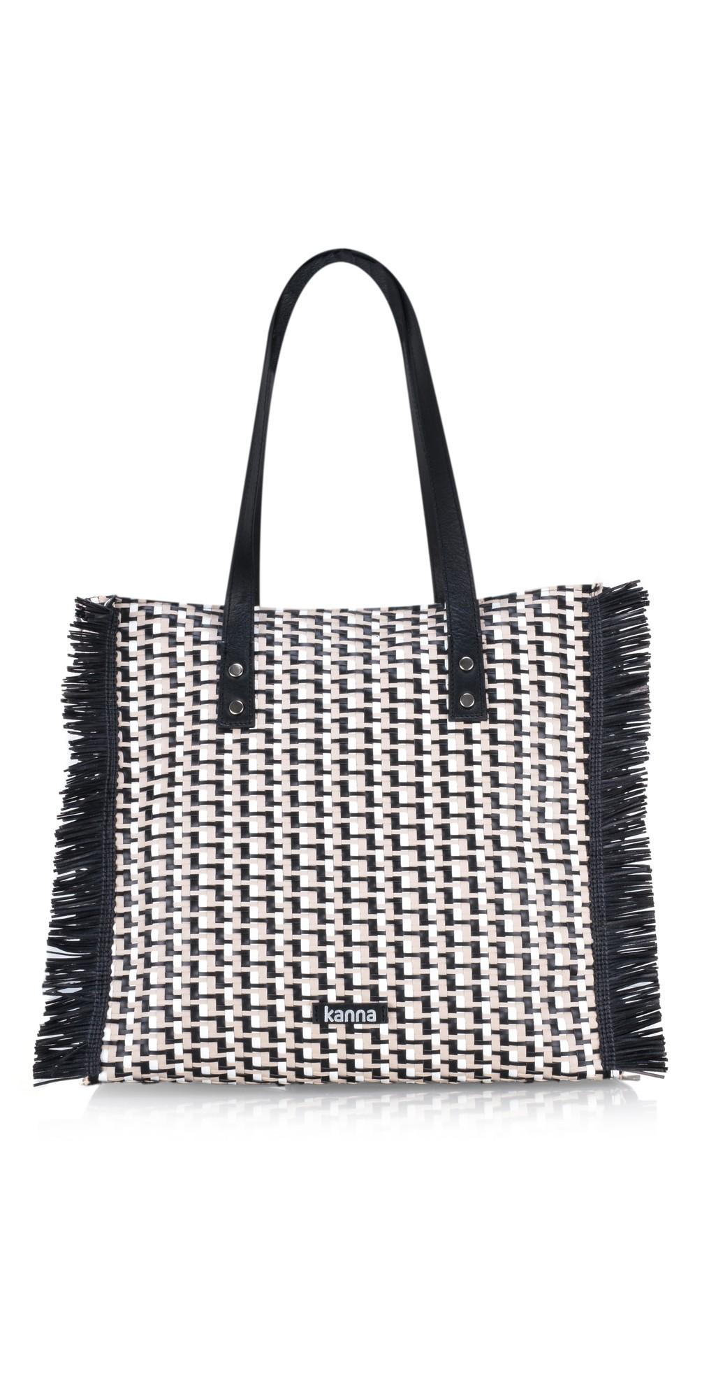 Babi Leather Rafia Handbag main image