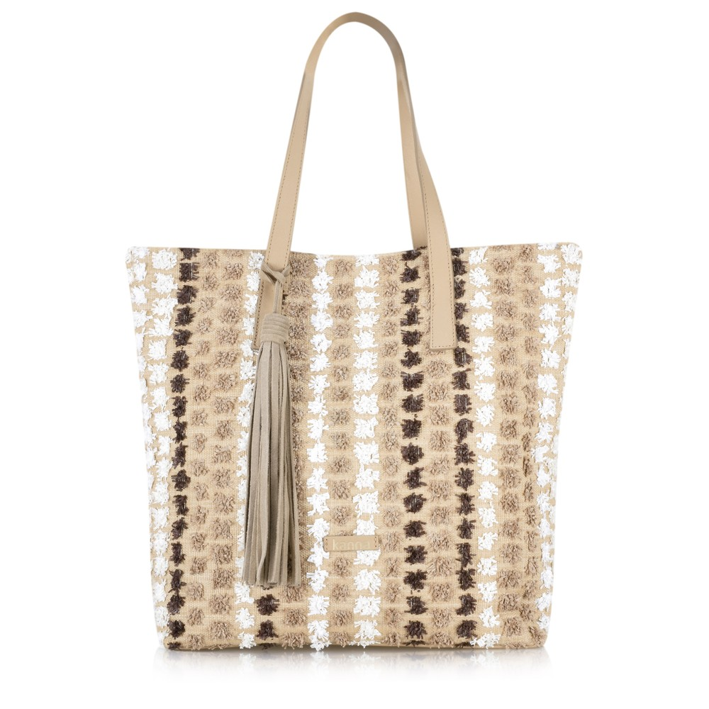 Kanna Cabel Stripe Beach Bag Multi