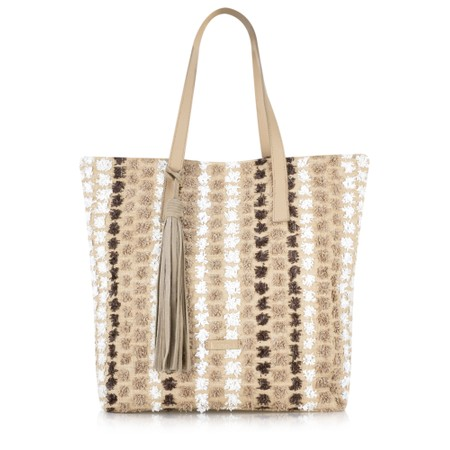 Kanna Cabel Stripe Beach Bag - Multicoloured