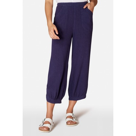Sahara Linen Viscose Bubble Pant - Blue