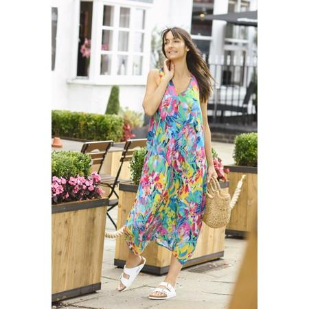 Sahara Summer Floral Print Dress - Multicoloured