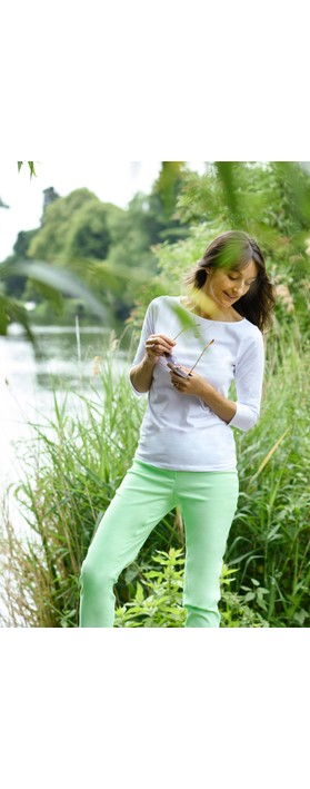 Robell Bella 09 Pale Lime Ankle Length Crop Cuff Trouser Pale Lime 183