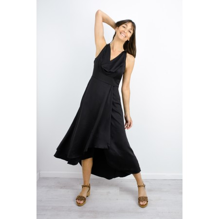 French Connection Alessia Satin Dress - Black