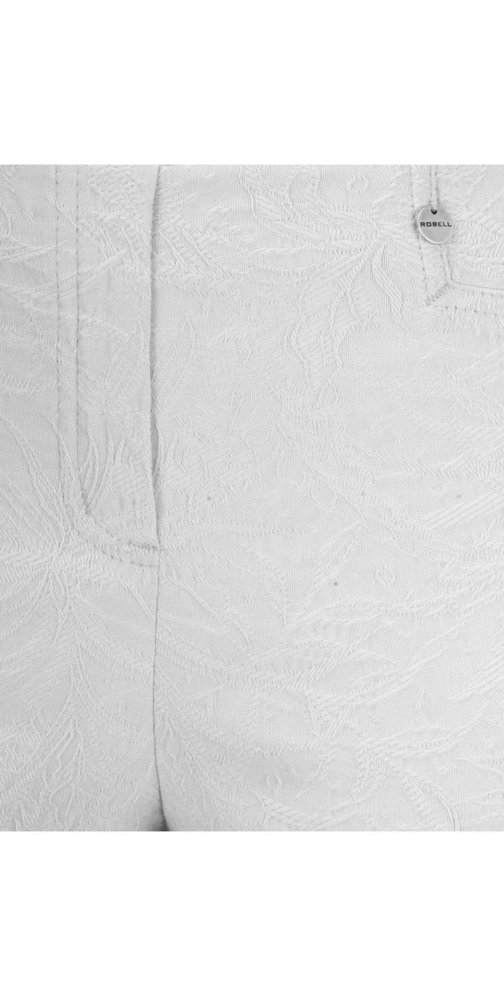 Rose 09 Grey Ankle Length Jacquard Slimfit Trouser main image
