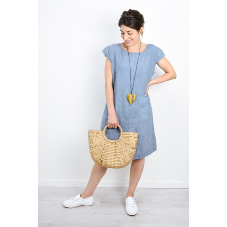 Fenella  Petra Relaxed Fit Cap Sleeve Dress - Blue