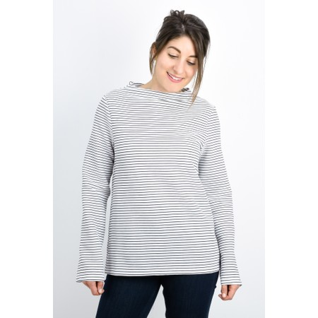 Great Plains Orla Ottoman Long Sleeve Top - Black