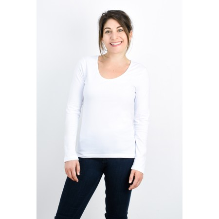 Great Plains Essentials Fitted Long Sleeve Tee - White