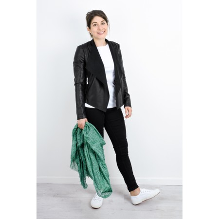 French Connection Stephanie Waterfall Jacket - Black