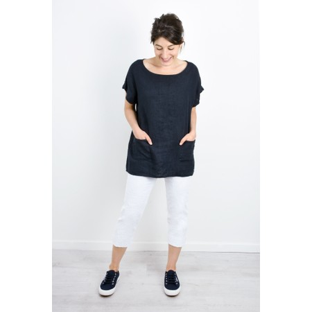 Luella Fern Easyfit Linen Top - Blue