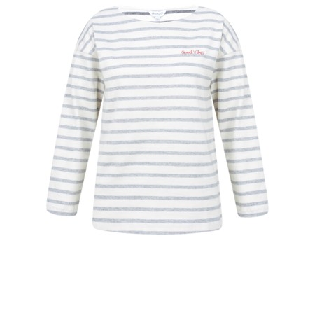 Great Plains Good Vibes Stripe Long Sleeve Top - Blue