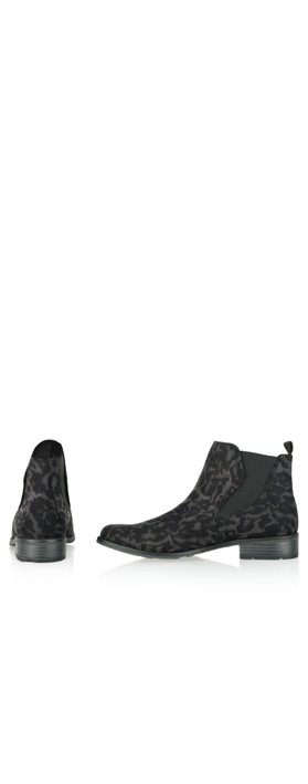 Marco Tozzi Rapalli Abstract Leopard Boot Dark Grey