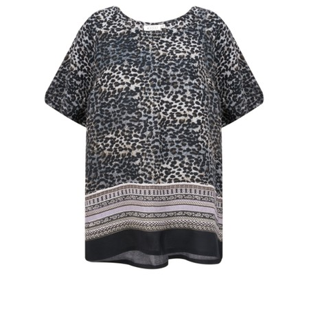 Masai Clothing Duscha Leopard Print Top - Purple
