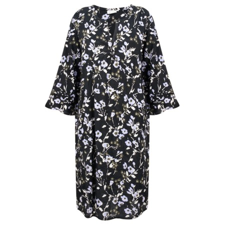 Masai Clothing Nolene Floral Dress - Purple