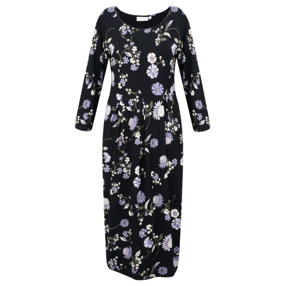 Masai Clothing Nicky Floral Jersey Dress Wisteria Org