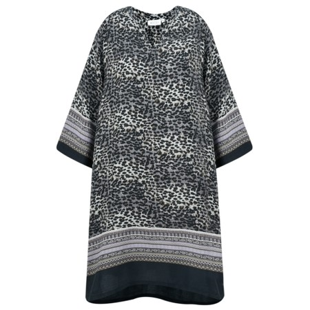 Masai Clothing Gravis Leopard Tunic Dress - Purple