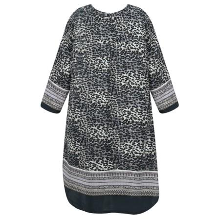 Masai Clothing Gravis Leopard Tunic Dress - Blue