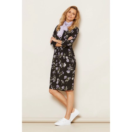 Masai Clothing Nicky Floral Jersey Dress - Purple