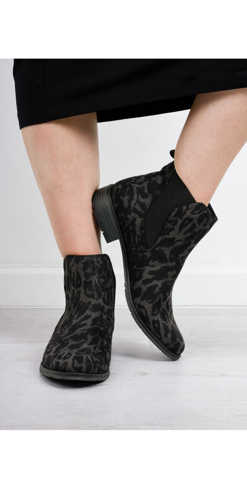 Rapalli Abstract Leopard Boot main image