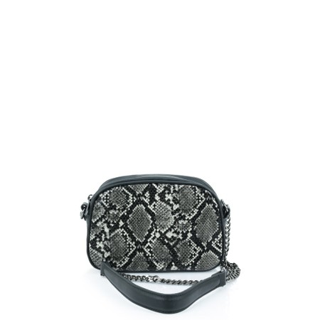 Marco Tozzi Twentyseven Camera Snake Print Bag - Black