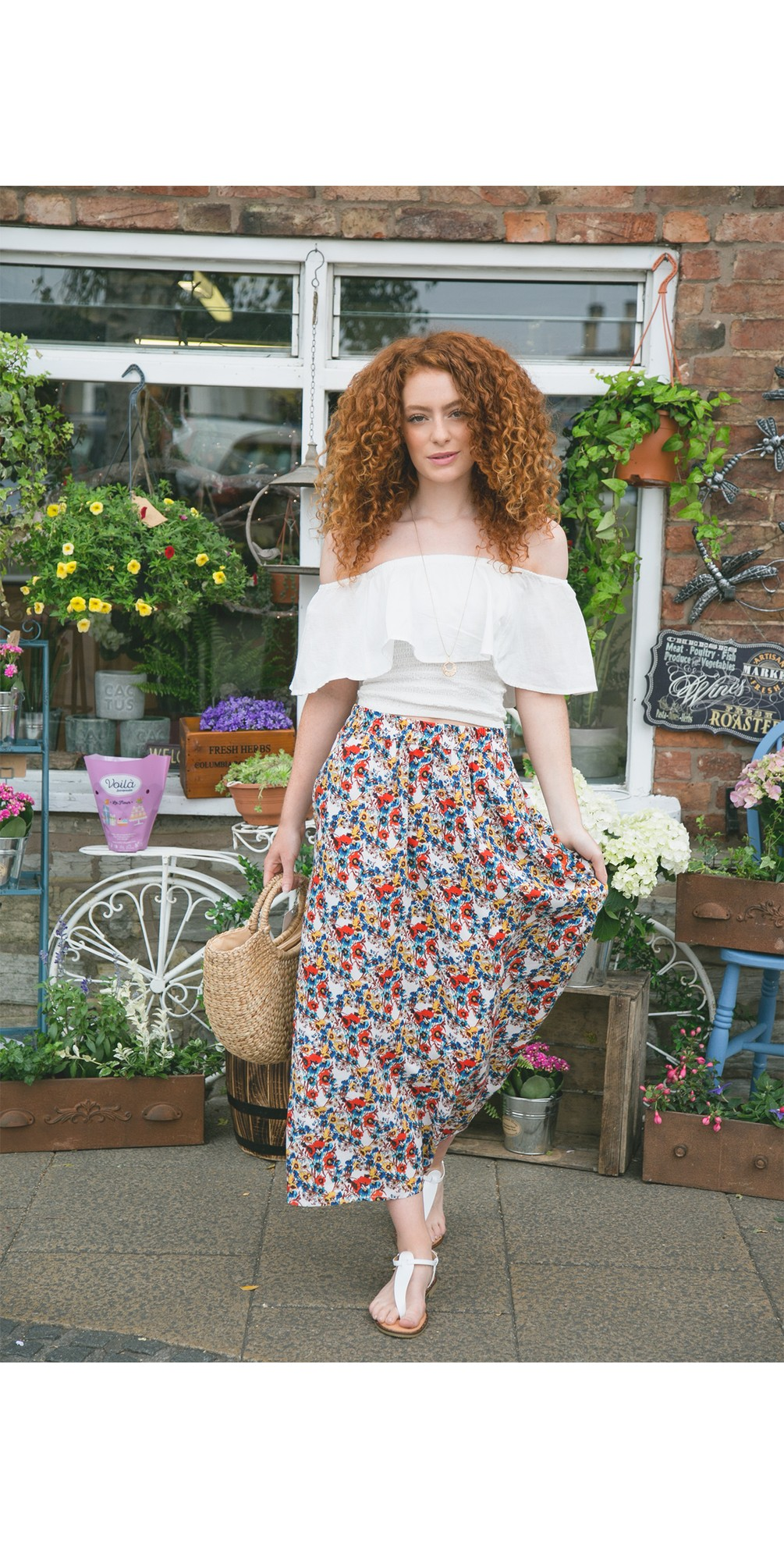 Gry Frill Top main image