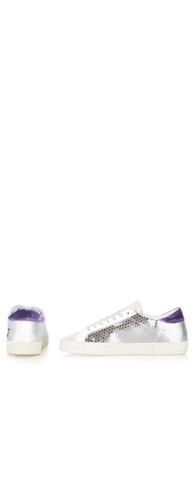 D.A.T.E Hill Low Pong Low Top Sneaker Platinum