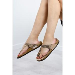 Birkenstock Gizeh Birko Flor Metallic Stone Sandal